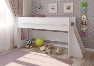 Детская кровать Легенда 23.1 белая