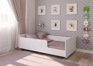 Детская кровать выдвижная Легенда 24 белая