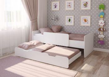 Двухъярусная кровать выдвижная Легенда 14.2 белая