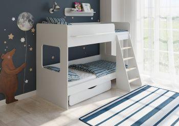 Двухъярусная кровать Легенда 25.2 белая