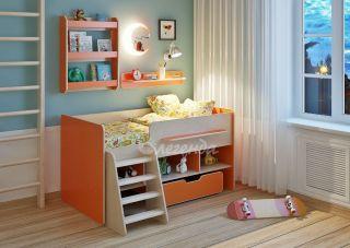 Детская кровать от 3 лет Легенда 6 с полками