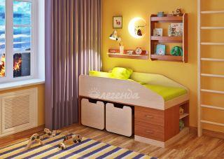 Детская кровать от 3 лет Легенда 8 с полками
