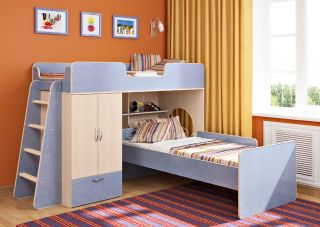 Двухъярусная кровать Легенда 3.4
