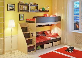 Двухъярусная кровать Легенда 7.3 с полками