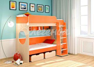 Двухъярусная кровать Легенда 7.1