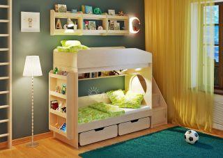 Двухъярусная кровать Легенда 10.3 с полками