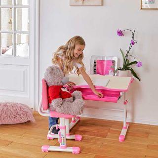 Комплект парта растущая и стул с чехлом RIFFORMA COMFORT-07 lux