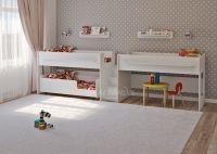 Трехъярусная выкатная кровать Легенда 23.5 Белый