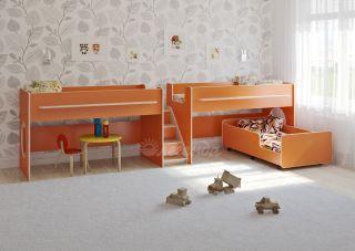 Трехъярусная выкатная кровать Легенда 23.5