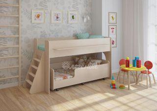 Детская выкатная двухъярусная кровать Легенда 23.3